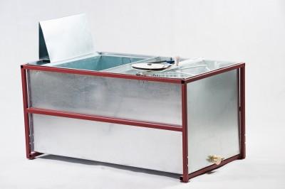 Стол, совмещенный с медогонкой, 4-х рамочный, окрашенный (корпус нержавейка)