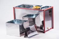 Стол, совмещенный с медогонкой, 3-х рамочный из нержавейки (корпус нержавейка)